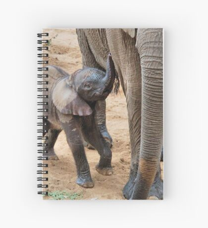 I AM HUNGRY - BABY ELEPHANT -  THE AFRICAN ELEPHANT – Loxodonta Africana Spiral Notebook