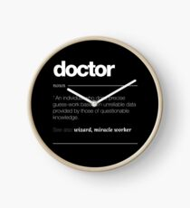 Doctor Definition Gift - Funny Job Quote Tee Clock
