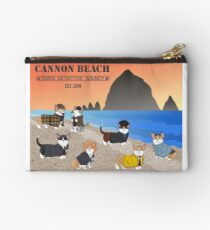 Welcome to the CBCDA - Cannon Beach Corgi Detective Agency Studio Pouch