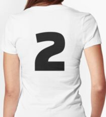 Number 2 two Women's Fitted T-Shirt