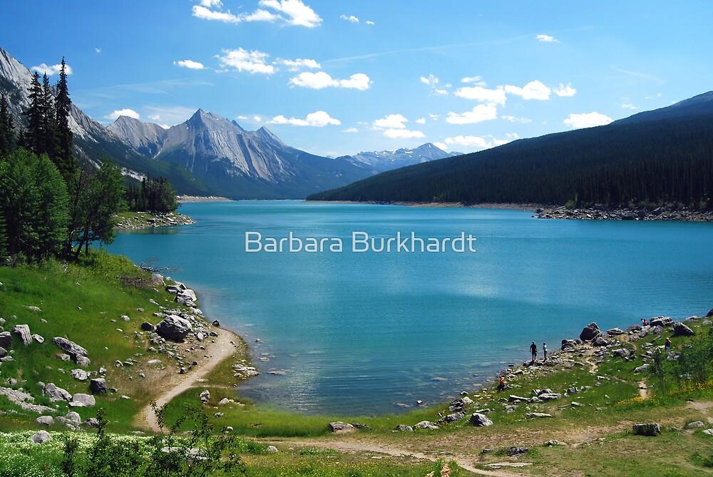 Medicine Lake - Jasper  by Barbara Burkhardt