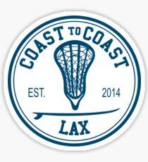 Coast to Coast Lax Sticker Sticker