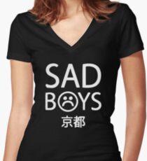 Yung Lean Sad Boys logo Women's Fitted V-Neck T-Shirt