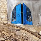 Blue door Tzfat by Dion Futerman