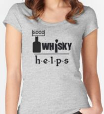 Whisky Helps Women's Fitted Scoop T-Shirt