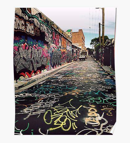 Graffiti street Sydney Poster