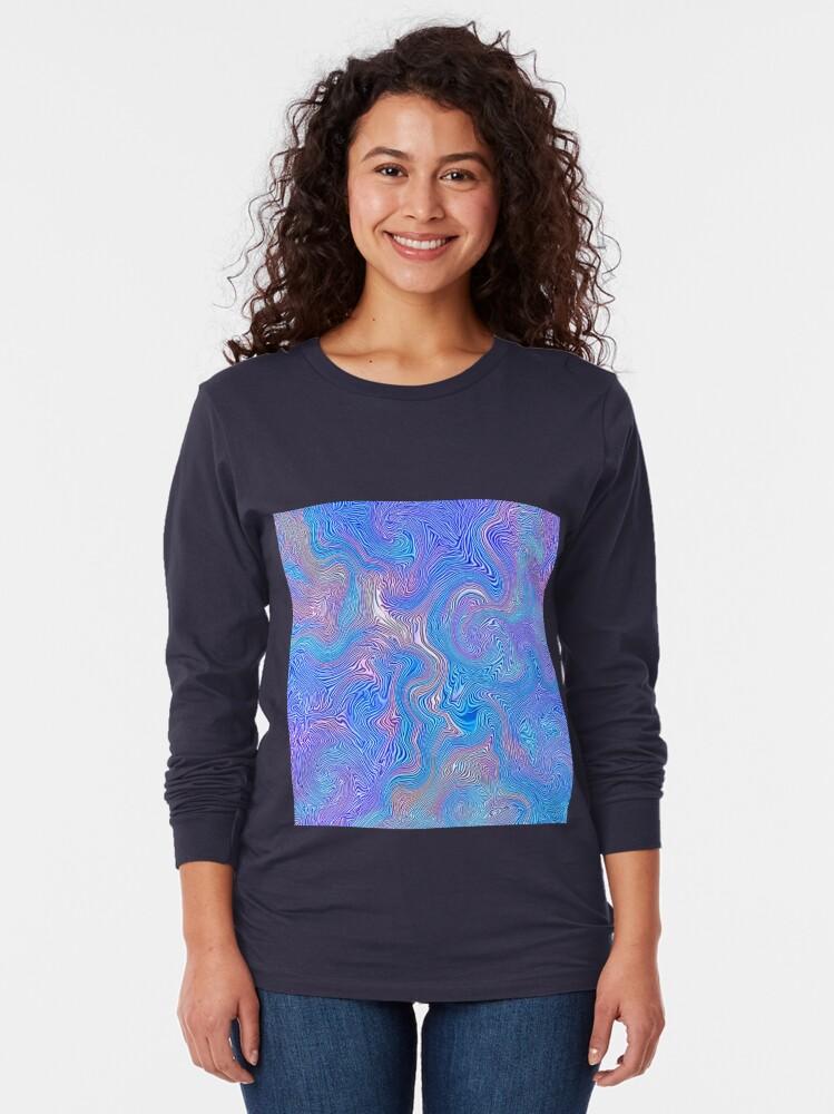 Alternate view of Textured Sky Long Sleeve T-Shirt