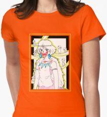 Princess Mononoke and her Kodama - drawing Womens Fitted T-Shirt