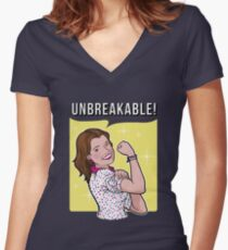Unbreakable! Women's Fitted V-Neck T-Shirt