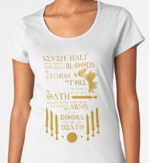 Camiseta premium de cuello ancho La profecia de siete