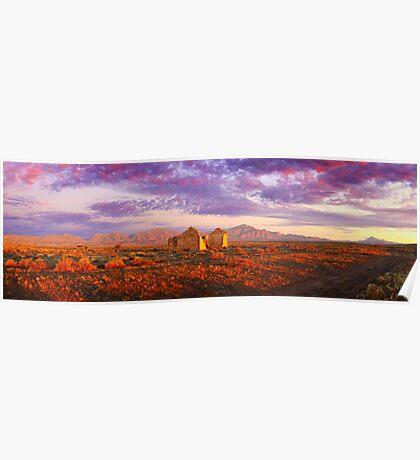 Settler's Ruin, Flinders Ranges, South Australia Poster