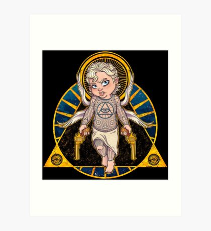 Cheeky Cherub Art Print