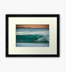 "Kelly Slater riding a Tyler Warren ""Bar of Soap"" at Shitties, Wollongong Framed Print"