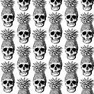 Pineapplehead (Black&White) Patterned by stieven