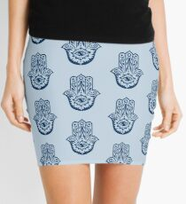 Hamsa - Hand of Fatima, protection amulet, symbol of strength and happiness Mini Skirt