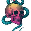 Skull with snake by stieven