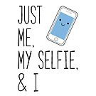 Funny Me, My Selfie, and I Cartoon Phone by JanusianGallery