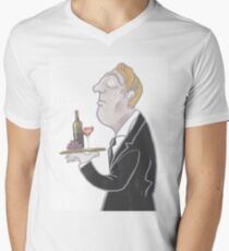Jeeves and wine Men's V-Neck T-Shirt