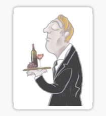 Jeeves and wine Sticker