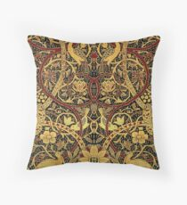 William Morris Bullerswood Vintage Floral Pattern  Throw Pillow