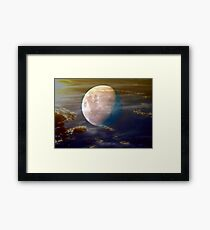 Alien Moon Framed Print