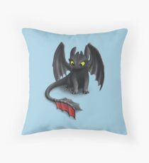 Toothless, Night Fury Inspired Dragon. Floor Pillow