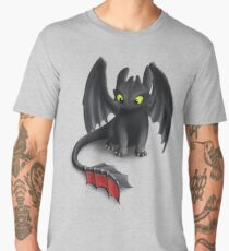 Toothless, Night Fury Inspired Dragon. Men's Premium T-Shirt