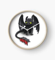 Toothless, Night Fury Inspired Dragon. Clock