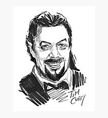 Tim Curry Portrait Photographic Print