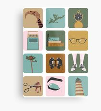Moonrise Kingdom Icons Metal Print