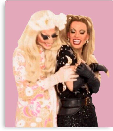 Trixya hug - Trixie Mattel and Katya Zamolódchikova  by glitteringmist