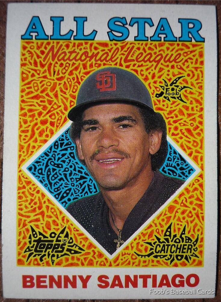 232 - Benny Santiago by Foob's Baseball Cards