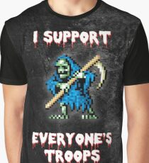 I support all your troops - Ghosts 'n Goblins Graphic T-Shirt