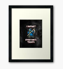 I support all your troops - Ghosts 'n Goblins Framed Print