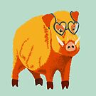 Funny Kind Hearted Boar by Boriana Giormova