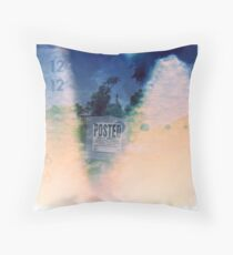 Posted Leaks Throw Pillow