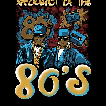 Cute Product Of The 80s Party Neon Colors Music Pop Tee Design Print by dopelikethe80s