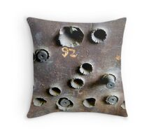 target practice: 120mm plate Throw Pillow