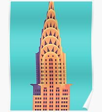 Chrysler Building - Cyan Poster
