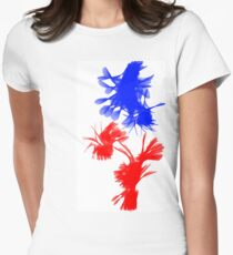 Blue And Red Swirls T-Shirt