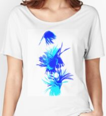 Blue And Light Blue Swirls Women's Relaxed Fit T-Shirt