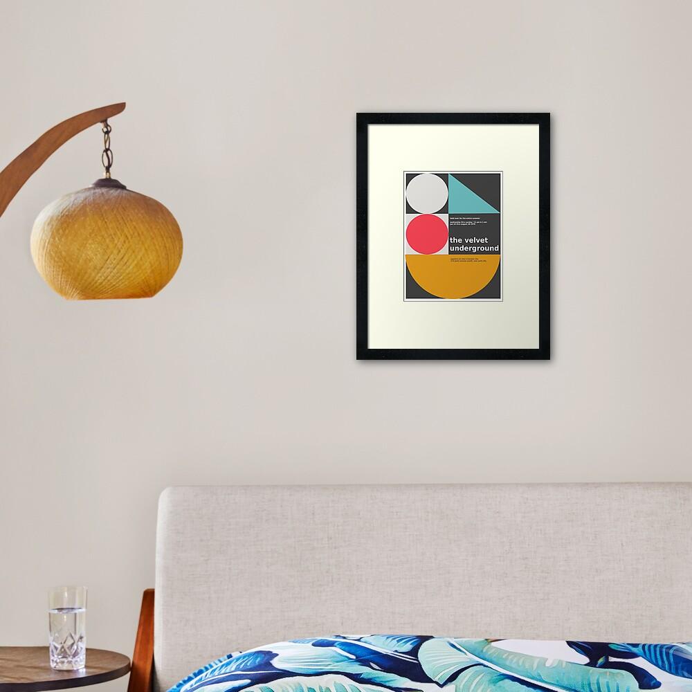 The Velvet Underground concert print Framed Art Print