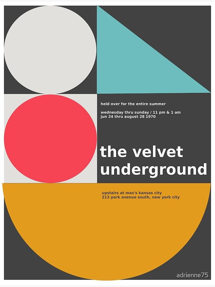 The Velvet Underground concert print by adrienne75