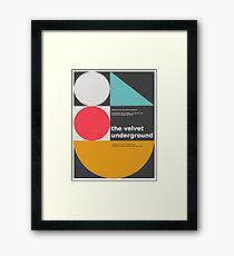 The Velvet Underground concert print Framed Print