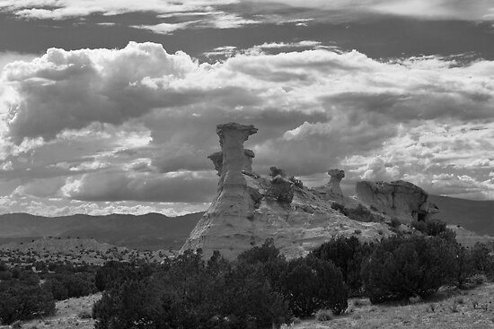 Hoodoo Island, near Chimayo, New Mexico by Mitchell Tillison
