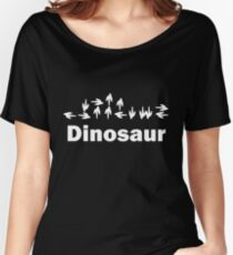 Dinotopia Inspired Dinosaur Text Women's Relaxed Fit T-Shirt