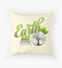 Give Back to Nature - Earth Day Everyday Throw Pillow