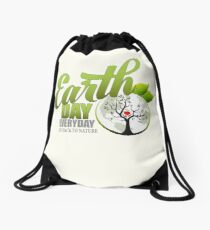 Give Back to Nature - Earth Day Everyday Drawstring Bag