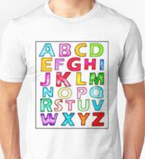 Alphabet ABCs  Unisex T-Shirt