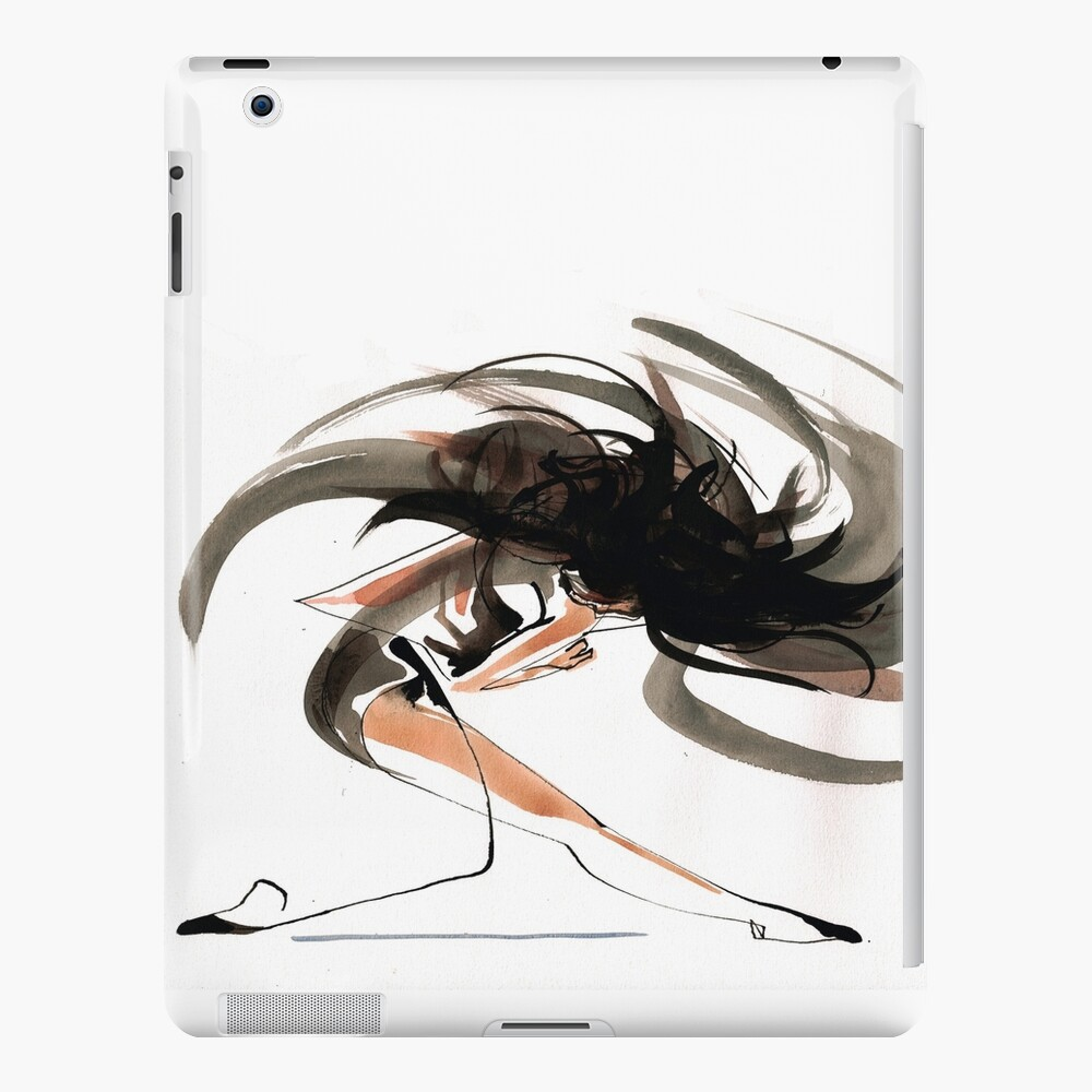 Expressive Ballerina Dance Drawing iPad Case & Skin